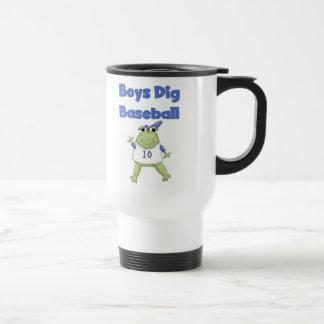 Boys Dig Baseball T-shirts and Gifts Travel Mug