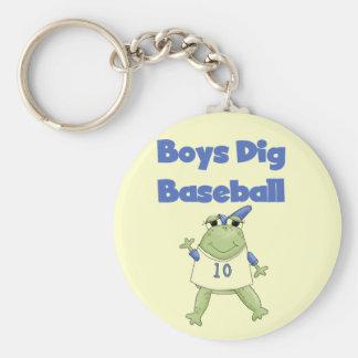 Boys Dig Baseball Tshirts and Gifts Keychain