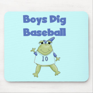 Boys Dig Baseball Tshirts and Gifts Mouse Pad