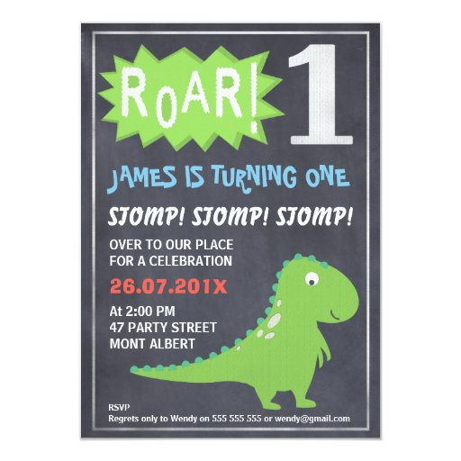 Dinosaur Invitations Template with awesome invitation example