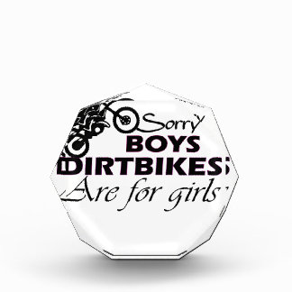 boy's dirt bikes are for girls award