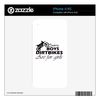 boy's dirt bikes are for girls iPhone 4S decals