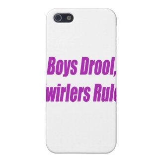 BOYS DROOL TWIRLERS RULE - PURPLE.psd iPhone SE/5/5s Cover