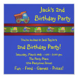 Boys Dump Truck Birthday Party Personalized Invitation