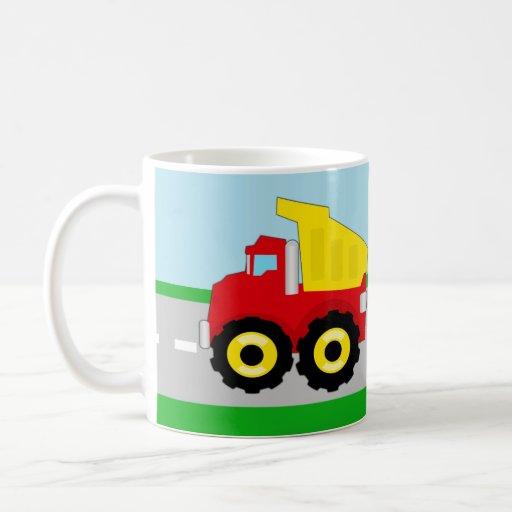 Boy's Dump Truck Personalized Name Mug