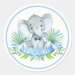 Boys Elephant Baby Shower Stickers