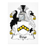 Boys Family Crest Personalized Invites