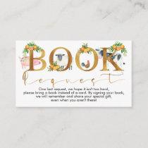 Boys farm animals books request baby shower insert