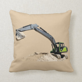 Boys' Favorite Excavators on Double Sided Pillow