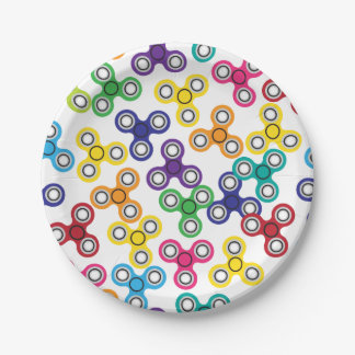Boy's Fidget Spinner Birthday Party Paper Plate