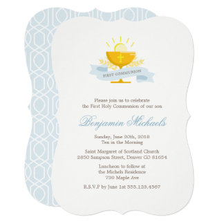 Boys First Holy Communion Card