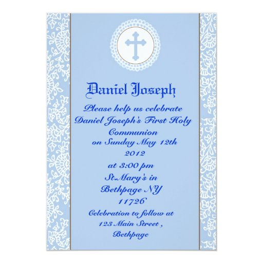 Boys First Holy Communion Invitations   Zazzle