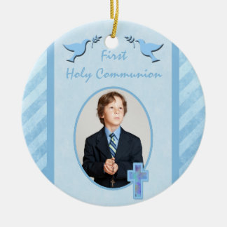 Boy's First Holy Communion Photo Ornament Keepsake