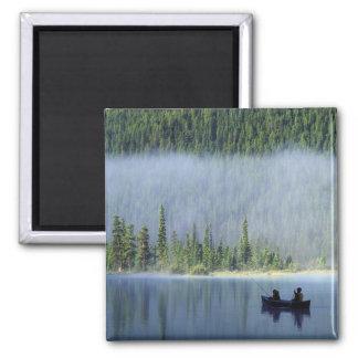 Boys fishing on Waterfowl Lake, Banff National Fridge Magnet