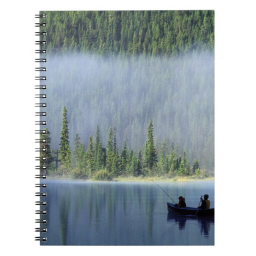 Boys fishing on Waterfowl Lake, Banff National Note Books
