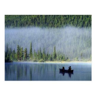 Boys fishing on Waterfowl Lake, Banff National Postcard