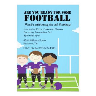 """Boys Football Themed Birthday Party Invitations 5"""" X 7"""" Invitation Card"""