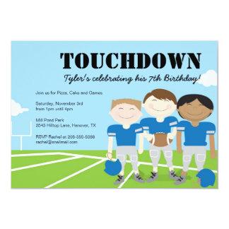 Boys Football Themed Birthday Party Invitations, 5x7 Paper Invitation Card
