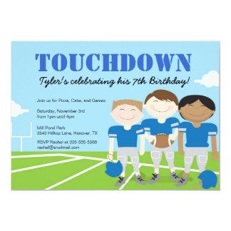Boy's Football Themed Birthday Party Invitations, Card