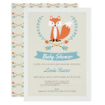 Boys Fox And Arrows Baby Shower Invitation
