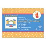 Boys Fun Bounce House Birthday Party Custom Announcement