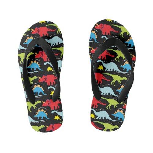 Boys fun Dinosaur pattern flip flops