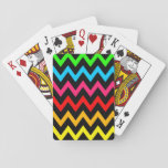 "Boys Girls Home Decor Colorful Neon Rainbow Playing Cards<br><div class=""desc"">This unisex home decor design is for boys and girls. It features a colorful neon rainbow in the style of chevron or zigzag.</div>"