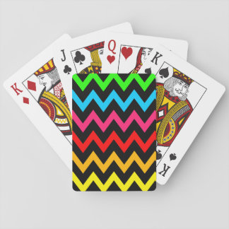 Boys Girls Home Decor Colorful Neon Rainbow Playing Cards