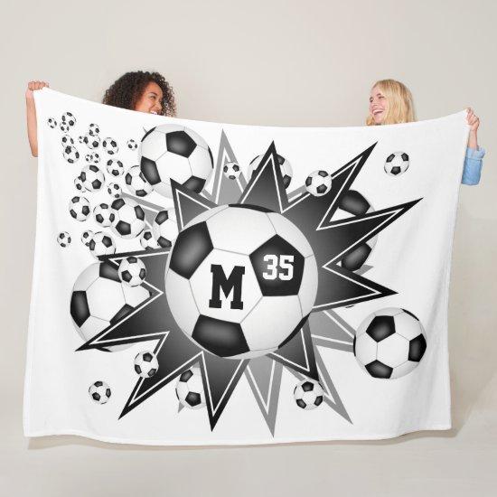 boys girls sports room soccer ball blowout fleece blanket