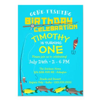 Boy's Gone Fishing Birthday Invitation