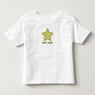 Boys Green and Brown Customizable Star T Shirt