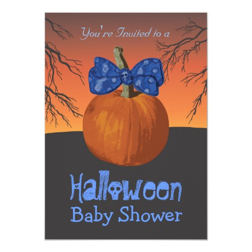 boys halloween baby shower invitations zazzle