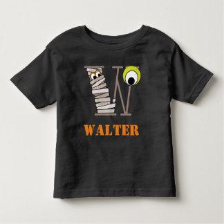 Boys HALLOWEEN Mummy Shirt w Initial W
