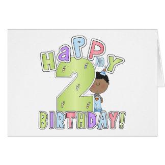 Boys Happy 2nd Birthday,African American Card