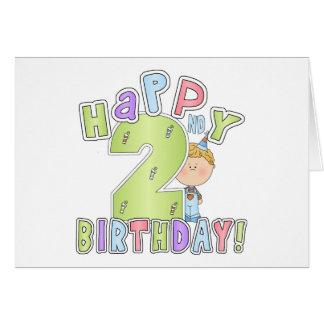 Boys Happy 2nd Birthday Card