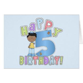 Boys Happy 5th Birthday,African American Card