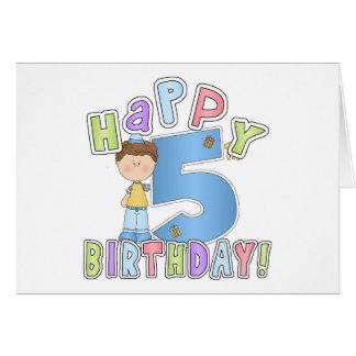 Boys Happy 5th Birthday Card