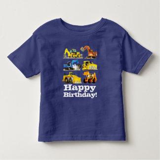 Boys Happy Birthday Construction Digger Excavator Toddler T-shirt