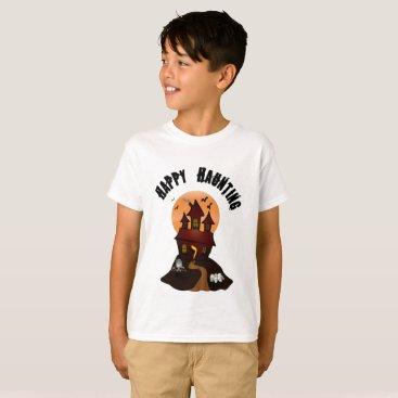 Beach Themed Boy's Happy Haunting Halloween Tshirt