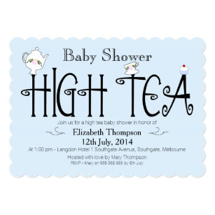 High tea baby shower invitations zazzle boys high tea baby shower invitation filmwisefo
