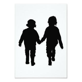 Boys Holding Hands Card