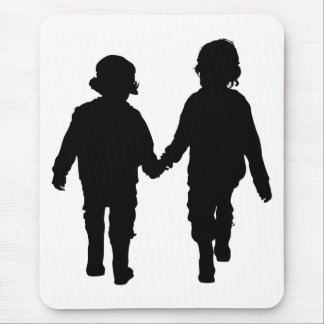 Boys Holding Hands Mousepad