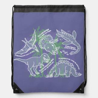 Boys how do you say dinosaur hunter drawstring bag