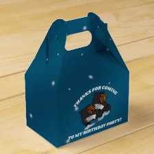 Boy's Ice Skate Birthday Party Favor Box