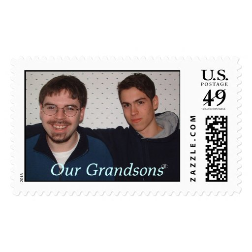 Boys in dining room, Our Grandsons Stamp