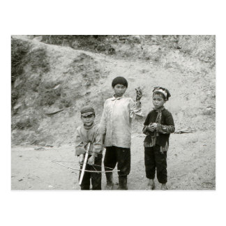Boys in Vietnam hunting with a crossbow Postcard