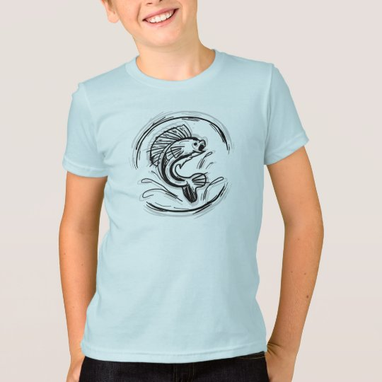 Boys ink fishing art shirt