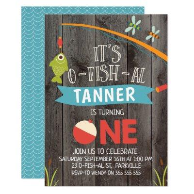 O Fish Ally One Birthday Party Invitation Zazzle Com