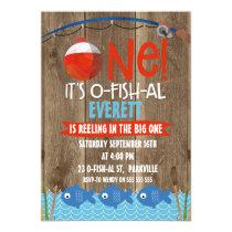 Boy's Its O-fish-al 1st Birthday Invitation