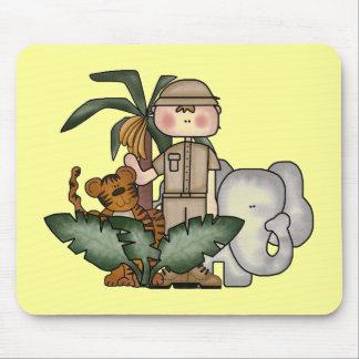 Boys Jungle Safari Tshirts and Gifts Mouse Pads